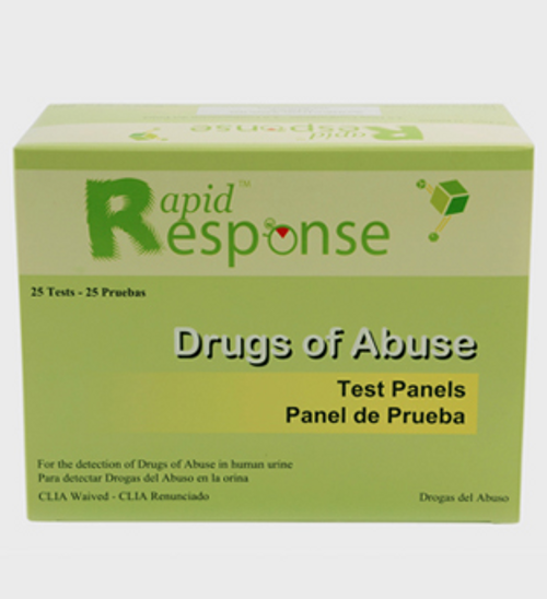 Rapid Response Multi-Drug Test Panel, 5 Panel Test, 25 Test Panels/box