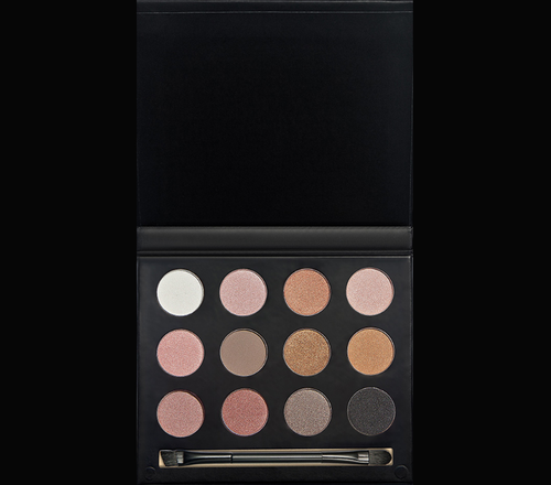 12 Color Matte and Shimmer Eye Shadow Palette + Double Ended Brush 02