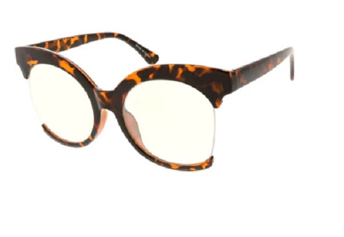 Over Sized Fashion Women's Glasses - Tortoise Shell Frame