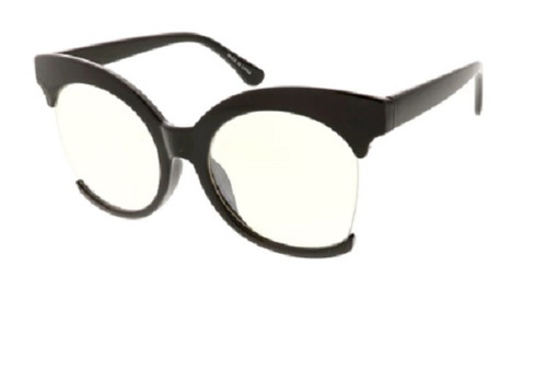 Over Sized Fashion Women's Glasses  - Black Frame