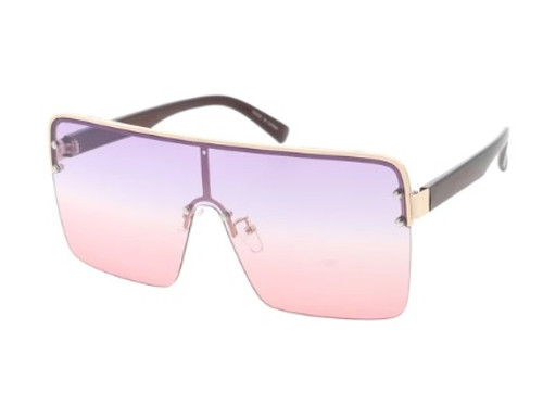 Extra Large Square Lens Glasses (Multi Color - Purple Pink)