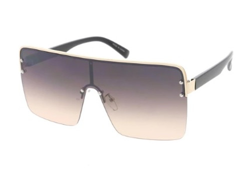 Extra Large Square Lens Glasses (Multi Color -  Smokey Brown Tawny)