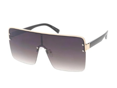 Extra Large Square Lens Glasses (Smokey Brown)