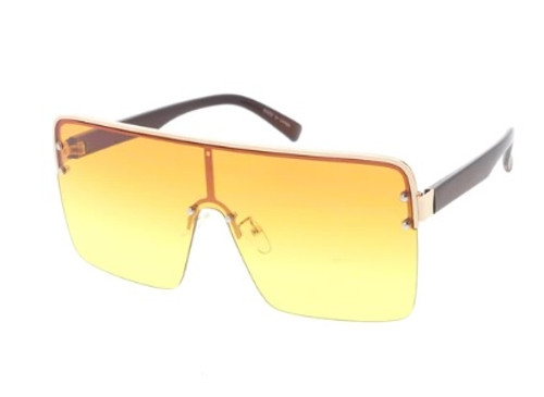 Extra Large Square Lens Glasses (Multi Color - Orange and Yellow)