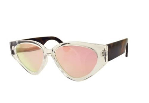 Soho Style Sunglasses Iridescent Pink and Tortoise Shell