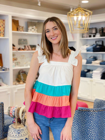 Tiered Colorblock Top THS0954
