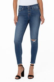 """Abby High-Rise Ankle Skinny Button Fly 28"""""""