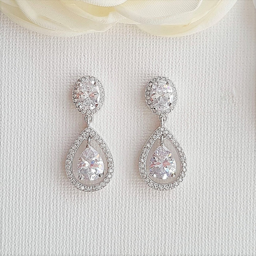 Small Drop Earrings for Brides
