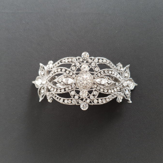 French Barrette Hair Clip for Weddings-Monica