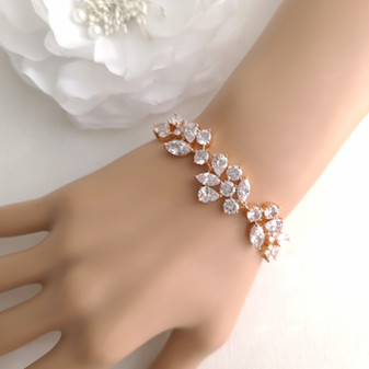 Rose gold Wedding Bracelet- Nicole