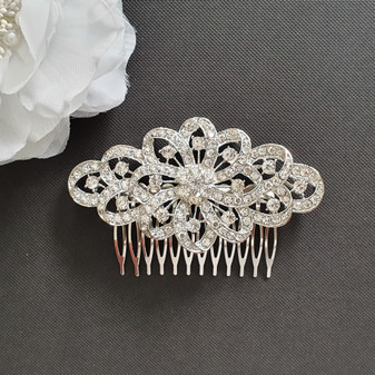 Vintage Bridal Comb for Weddings- Abby