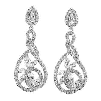 Sprial Twist Earrings for Weddings- Norma