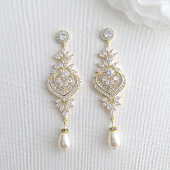 Gold Wedding Earrings- Poetry Designs