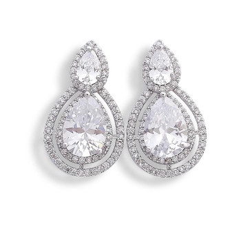 Crystal Stud Earrings-Jasmine