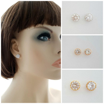 Crown Stud Earrings Liz