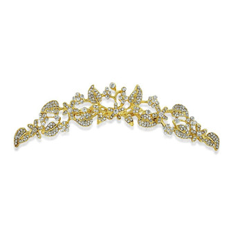 use it as Gold Bridal Hair comb and Gold Wedding Tiara