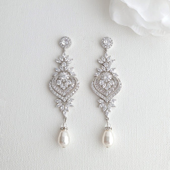 Statement Bridal Earrings- Poetry Designs