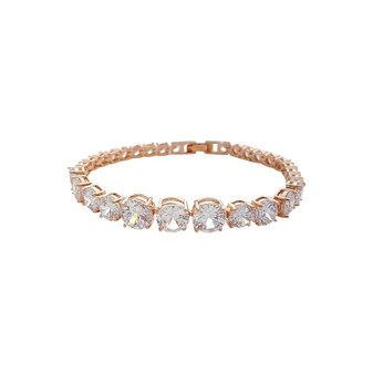 Rose Gold Bracelet for wedding Nora