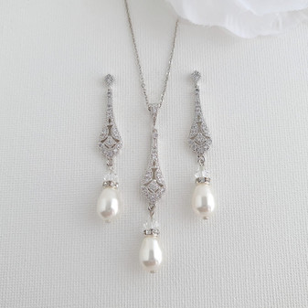 Vintage Wedding Jewellery Set- Lisa