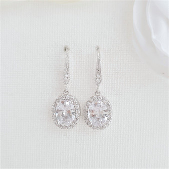 small dangle earrings for brides and bridesmaids- Poetry Designs
