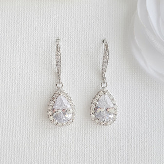 Teardrop Dangle Earrings-Emma