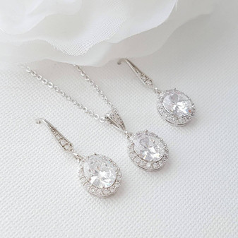 Bridesmaid Necklace and Earring Set-Emily