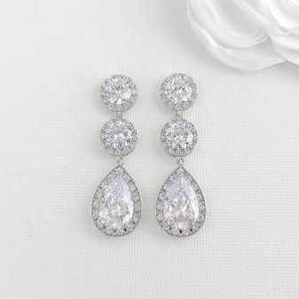 Cubic Zirconia Earrings- Evita