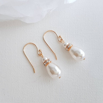 Simple Drop Earrings Rose Gold- June