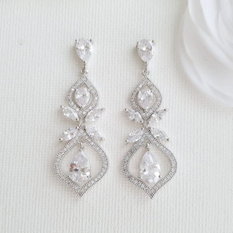 Cubic Zirconia Earrings for Brides