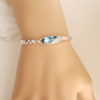 Light Blue Crystal Bracelet- Azura