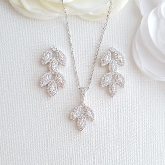 Crystal Wedding Jewellery Set-Abby