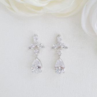 Floral Bridal Earrings for Brides and Weddings- Poetry Designs