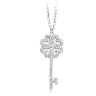 Key Necklace in Cubic Zirconia- Treasure
