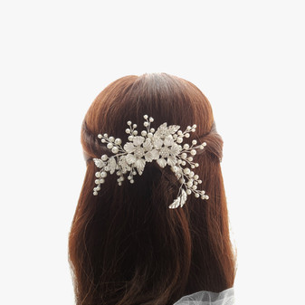 Pearl Hair Comb for Brides-Celestial