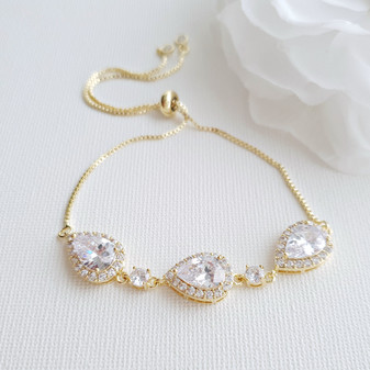 Gold Bracelets for Bridesmaids & Brides- Emma