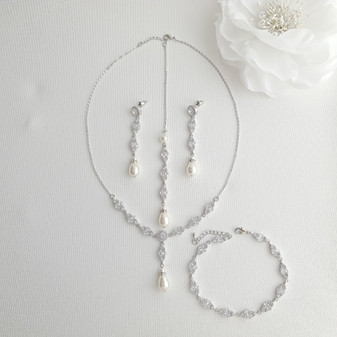 3 Piece Jewellery Set for Wedding- Hayley