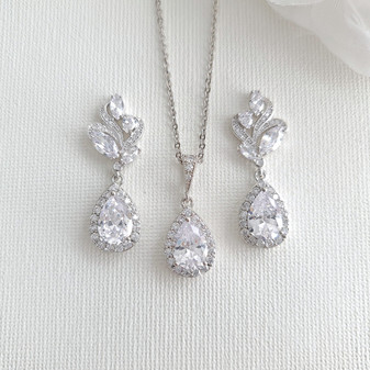 Earrings Sets with Matching Necklace-Wavy
