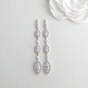 Extra Long Earrings for Wedding and Prom- Harriet