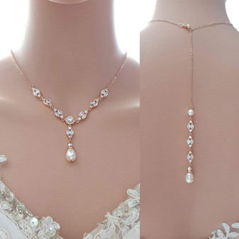 Necklace For Backless & Strapless Wedding Dress-Hayley