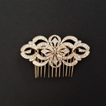 Vintage Hair Comb for Weddings in Gold-Blythe