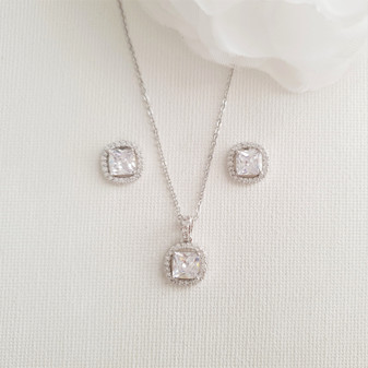 Earrings and Necklace Bridesmaids Jewellery Set-Piper