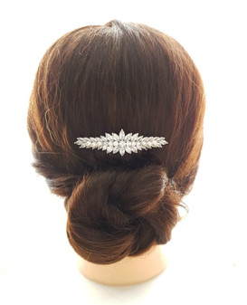 Marquise Crystal Wedding Hair Comb for Brides-Giselle