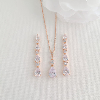 A rose Gold Plated Earrings Weddings & Occasions, Brides & Women