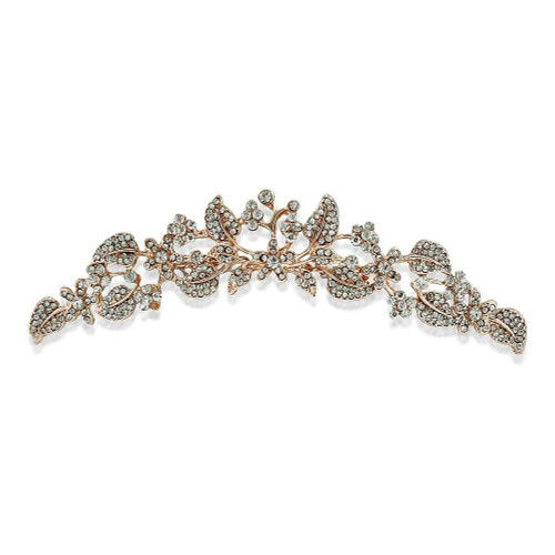 Rose gold tiara or rose gold hair comb