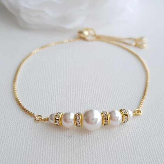 14K Gold and Pearl Bracelet- Ava