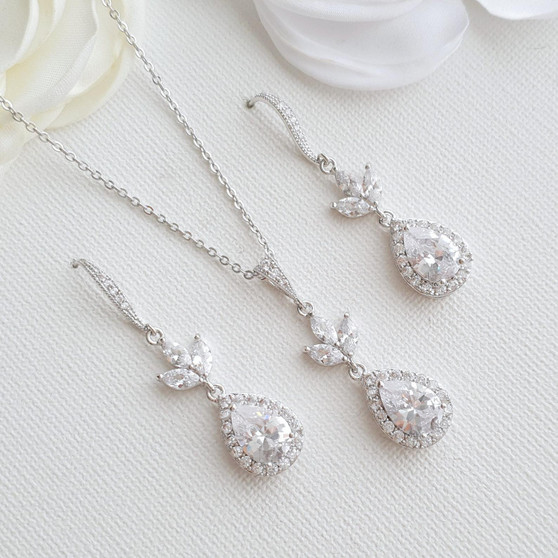 Necklace and Earrings Set-Lotus