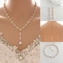 Cubic Zirconia Wedding and Reception Jewelry Set for Brides-Anya