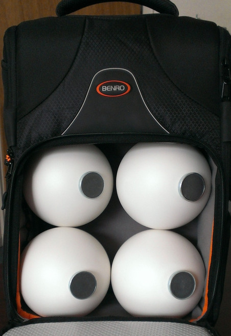 Flexi Reference Sphere Set in a Backpack