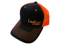 Limitless Snap Back Cap Black and Orange