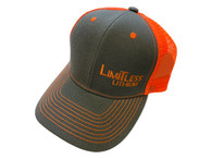 Limitless Snap Back Cap Grey and Orange
